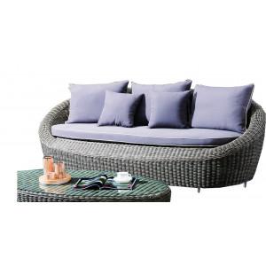 Купить Плетеный диван DIAMOND 3-х местный bk