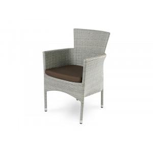 Купить Плетеное кресло AROMA светло-серое bk