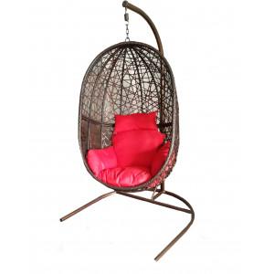 """Купить Подвесное кресло из искусственного ротанга """"Кокон"""" bk"""