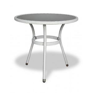 Купить Плетеный стол LOTUS круглый светлый bk