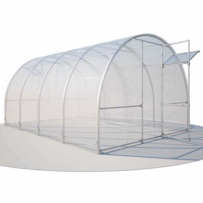 Купить Каркас теплицы «Злата», 4 × 3 × 2,1 м, оцинкованная сталь, без поликарбоната в Симферополе.