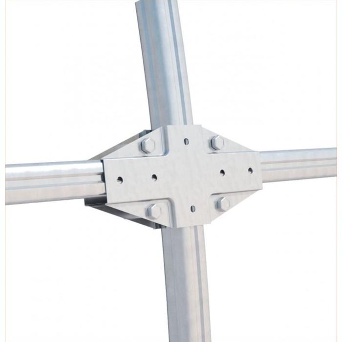 Купить Каркас теплицы «Гарант», 4 × 3 × 2,1 м, оцинкованная сталь, профиль 20 × 20 мм,цена в Симферополе.