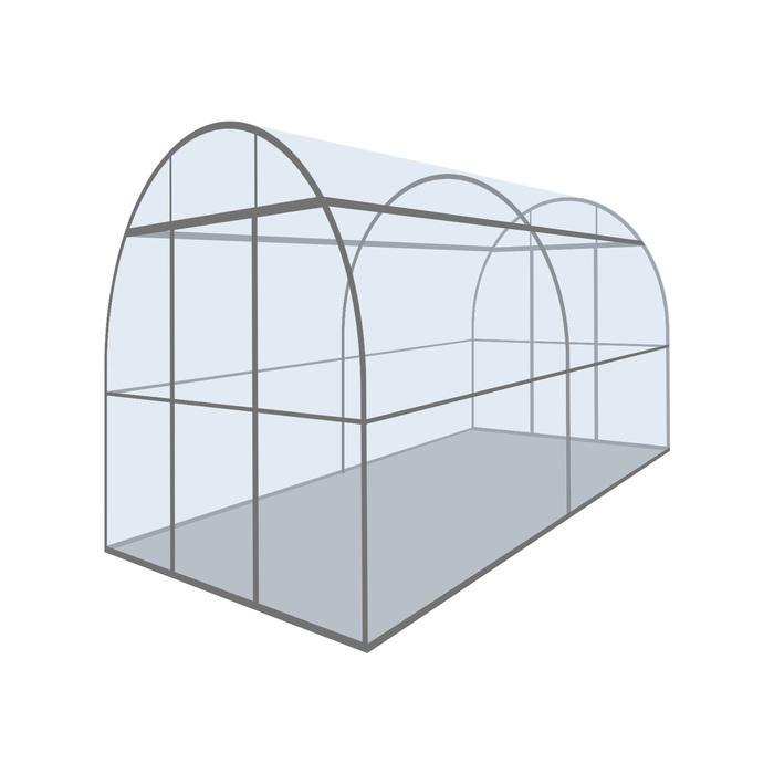 Купить Каркас теплицы «Алексеевна-Цинк», 6 × 2,5 × 2,3 м, оцинкованная сталь, профиль 30 × 30 мм, 30 × 15 мм,цена в Севастополе.