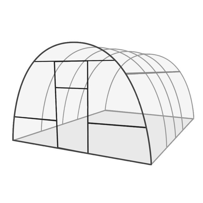 Купить Каркас теплицы «Базовая», 4 × 3 × 2,1 м, оцинкованная сталь, профиль 20 × 20 мм, шаг дуг 65 см,цена в Симферополе.