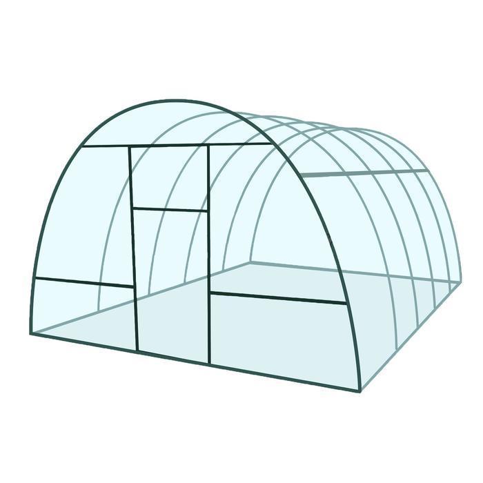 Купить Каркас теплицы «Базовая», 4 × 3 × 2,1 м, металл, профиль 20 × 20 мм, шаг дуг 65 см,цена в Симферополе.