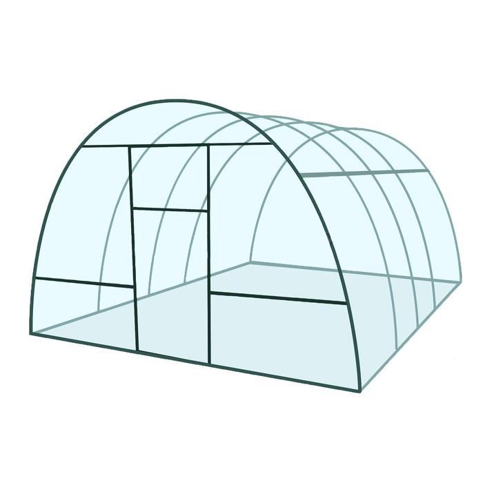 Купить Каркас теплицы «Базовая», 4 × 3 × 2,1 м, металл, профиль 20 × 20 мм,цена в Симферополе.