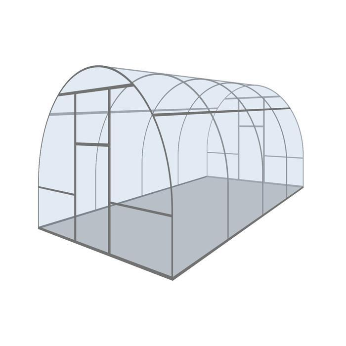 Купить Каркас теплицы «Новая-Цинк», 6 × 3 × 2,1 м, оцинкованная сталь, профиль 20 × 20 мм,цена в Симферополе.