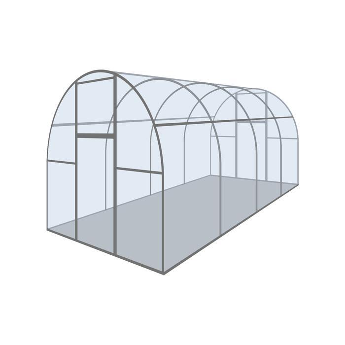 Купить Каркас теплицы «Оптима III-Цинк», 6 × 2 × 1,9 м, оцинкованная сталь, профиль 20 × 20 мм,цена в Симферополе.