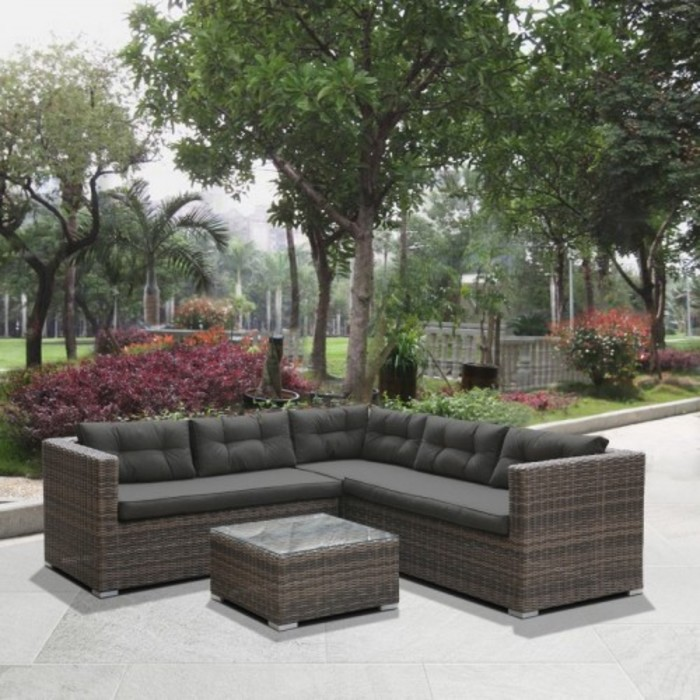 Комплект мебели из искусственного  ротанга AFM-303A Brown/Olive