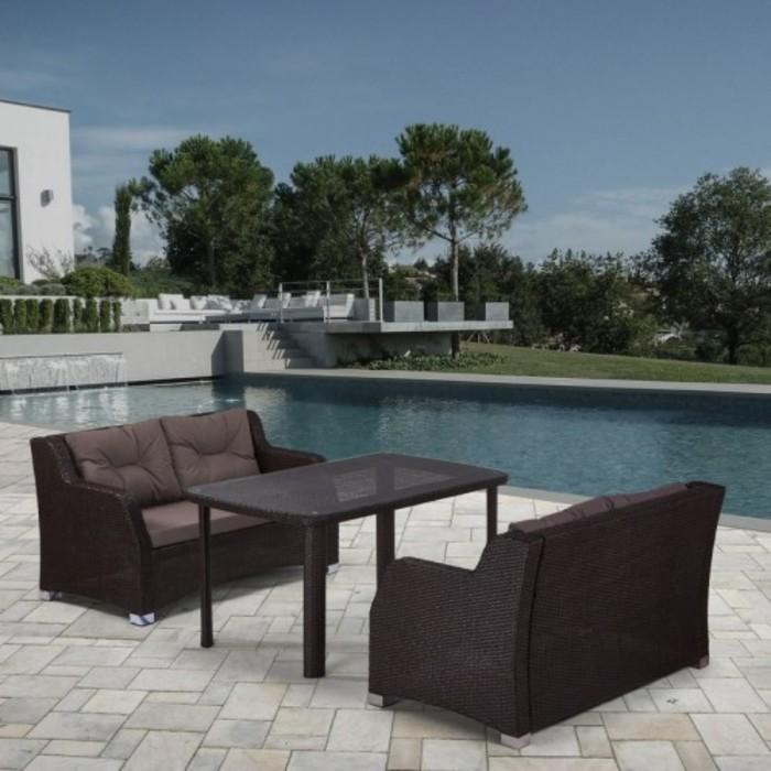 Комплект мебели из искусственного ротанга T51A/S51A-W53 Brown