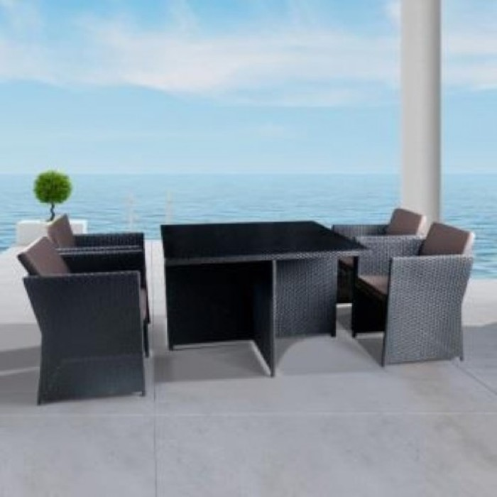 Комплект мебели из искусственного ротанга T300A/Y300A-W53 Brown (4+1)