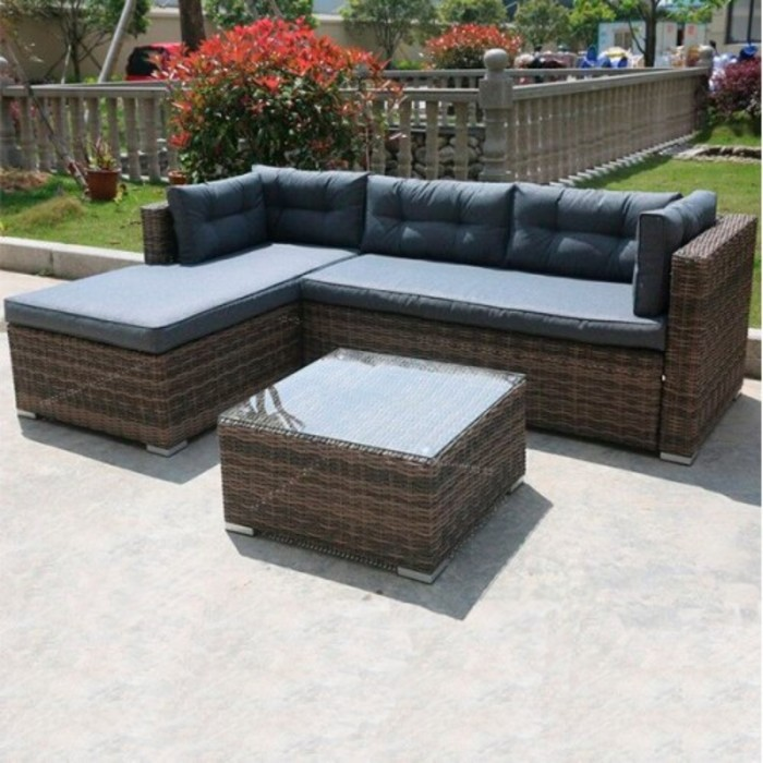 Комплект мебели из искусственного ротанга AFM-302 Brown/Grey