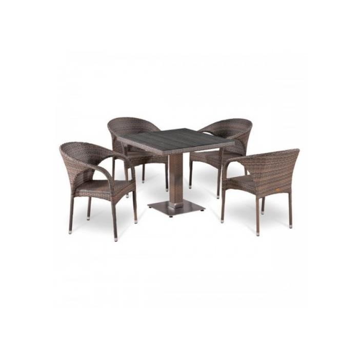 Комплект мебели из искусственного ротанга T503SG/Y290BG-W1289 Pale (4+1)