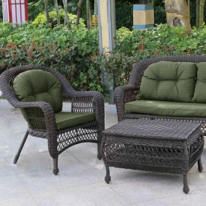 Комплект мебели из искусственногоротанга LV520BG Brown/Green