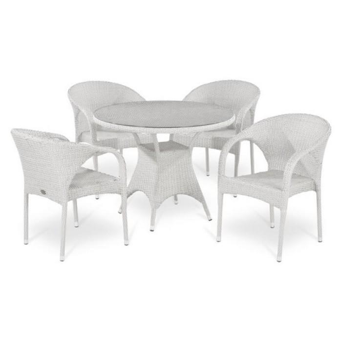 Комплект плетеной мебели T220CW/Y290W-W2 White 4Pcs