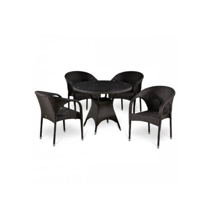 Комплект мебели из искусственного ротанга T220CBT/Y290B-W52 Brown (4+1)