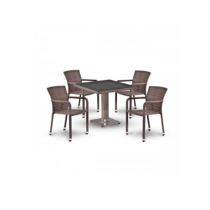 Комплект мебели из искусственного ротанга T503SG/A2001G-W1289 Pale (4+1)