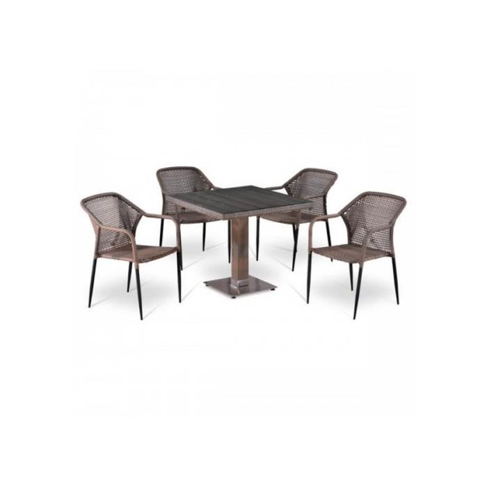 Комплект мебели из искусственного ротанга T503SG/Y35G-W1289 Pale (4+1)