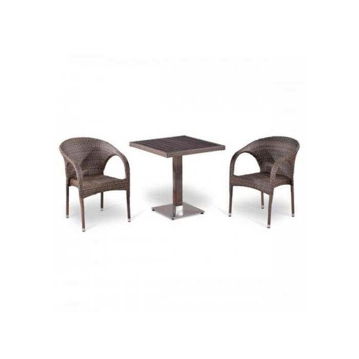 Комплект мебели из искусственного ротанга T502DG/Y290BG-W1289 Pale (2+1)