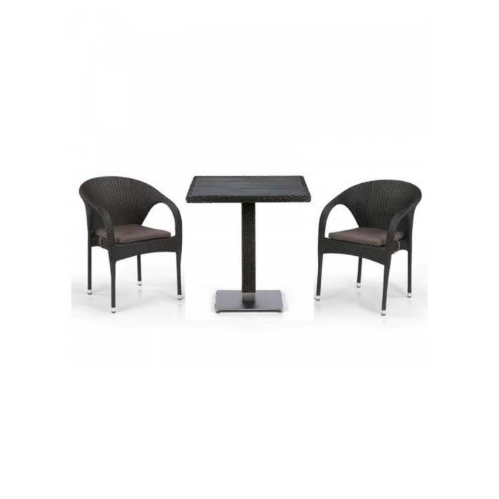 Комплект мебели из искусственного ротанга T607D/Y290-W53/52 Brown (2+1)