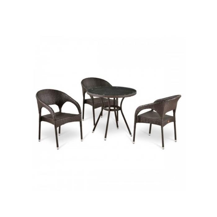 Комплект мебели из искусственного ротанга T283ANT/Y90C-W51 Brown (3+1)