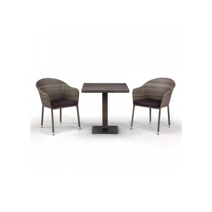 Комплект мебели из искусственного ротанга T601DG/Y375G-W1289 Pale (2+1)