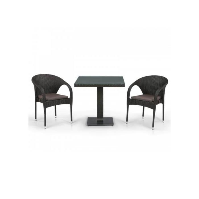 Комплект мебели из искусственного ротанга T605SWT/Y290W-W53 Brown (2+1)