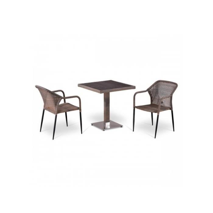 Комплект мебели из искусственного ротанга T502DG/Y35G-W1289 Pale (2+1)