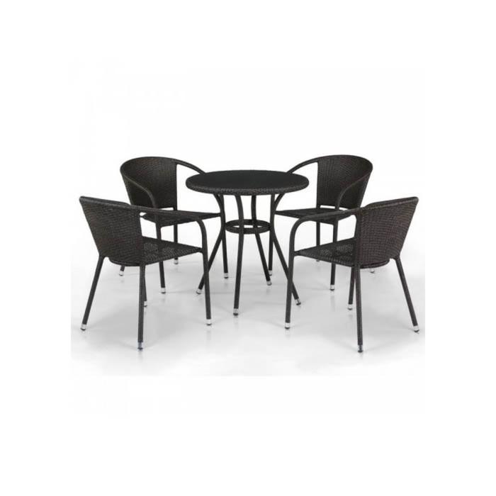 Комплект мебели из искусственного ротанга T282ANS/Y137C-W53 Brown (4+1)