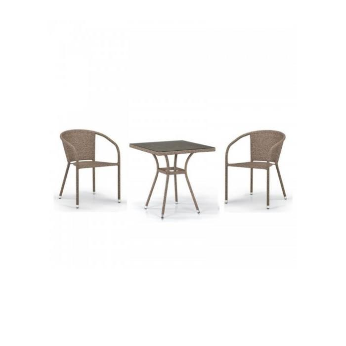 Комплект мебели из искусственного ротанга T282BNT/Y137C-W56 Light brown (2+1)