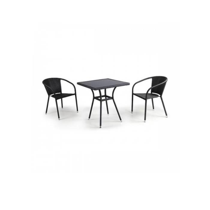Комплект мебели из искусственного ротанга T282BNS/Y137C-W53 Brown (2+1)