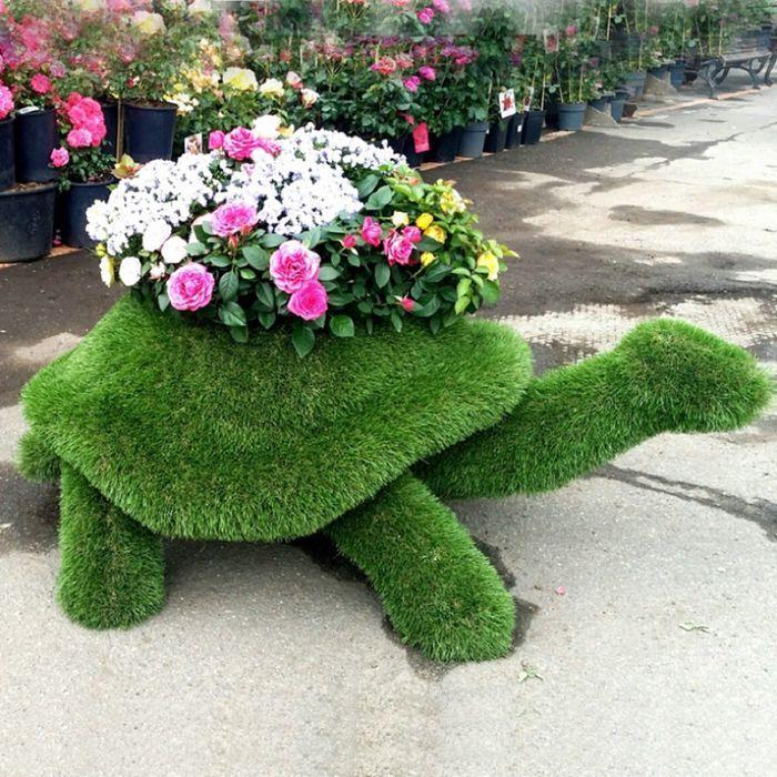 "Топиар фигура ""Черепаха с кашпо ползучая"""