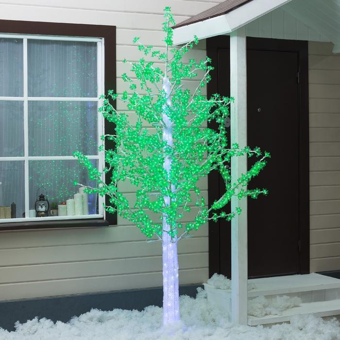 """Дерево светодиодное улич. 2,5 м. """"Акриловое"""" 1728Led, 103W, 220V Зеленый"""