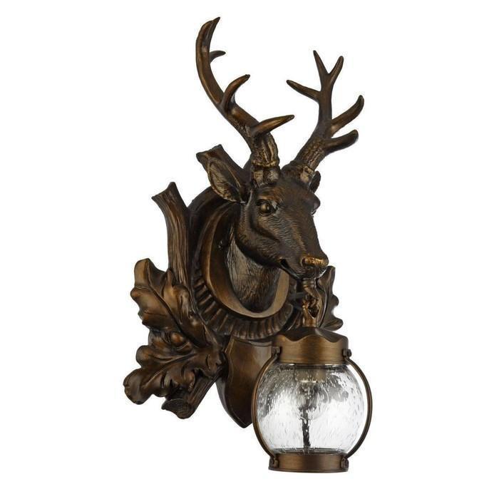 """Светильник """"Олененок"""", E27, 60 Вт, IP44, цвет темно-коричневый"""