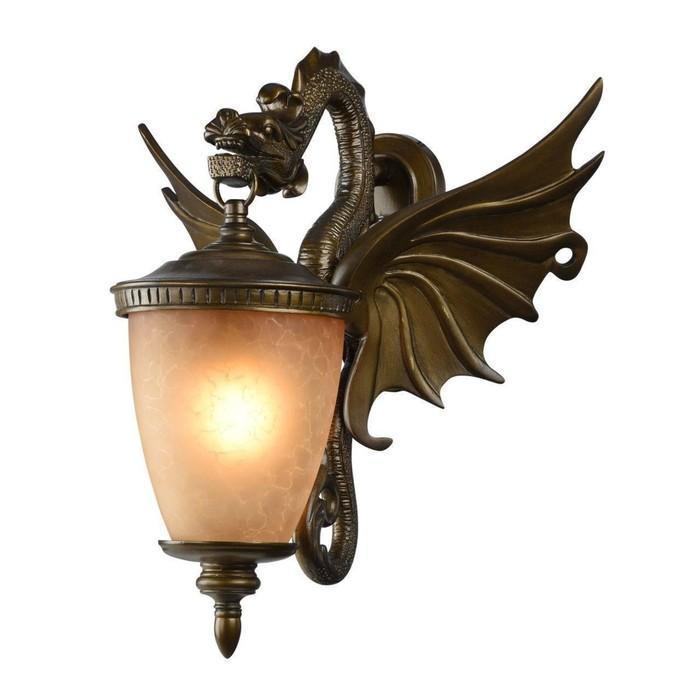 """Светильник """"Дракон"""", E27, 60 Вт, IP44, цвет золотисто-коричневый"""