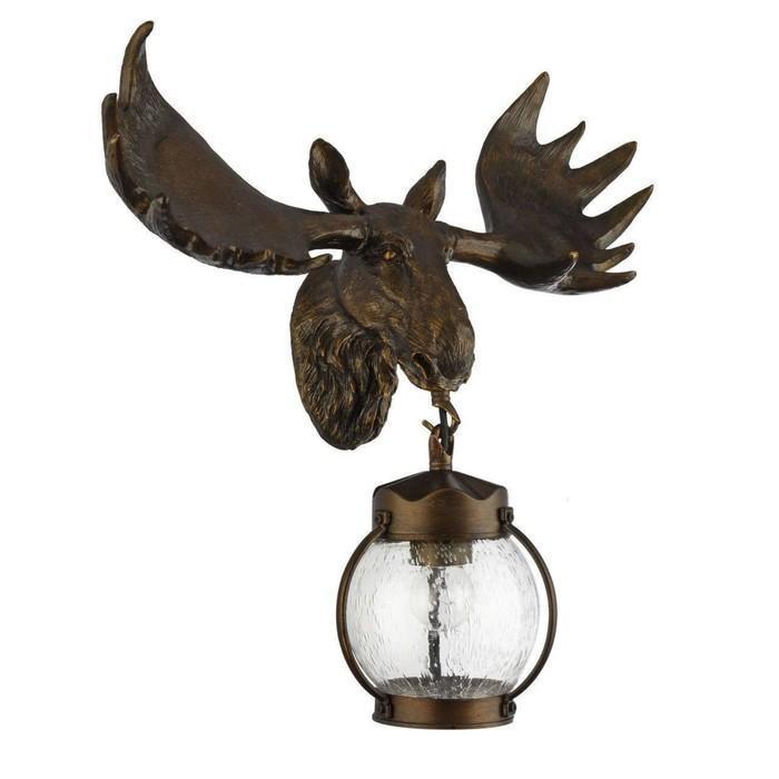"""Светильник """"Лось"""", E27, 60 Вт, IP44, цвет темно-коричневый"""