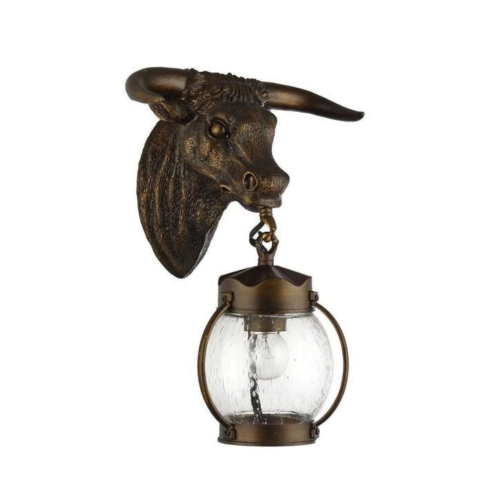 """Светильник """"Бык"""", E27, 60 Вт, IP44, цвет темно-коричневый"""