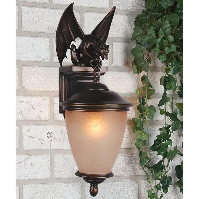 """Светильник """"Летучая мышь"""", E27, 60 Вт, IP44, цвет коричневый"""