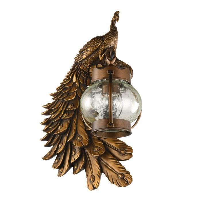"""Светильник """"Фазан"""", E27, 60 Вт, IP44, цвет коричневый"""