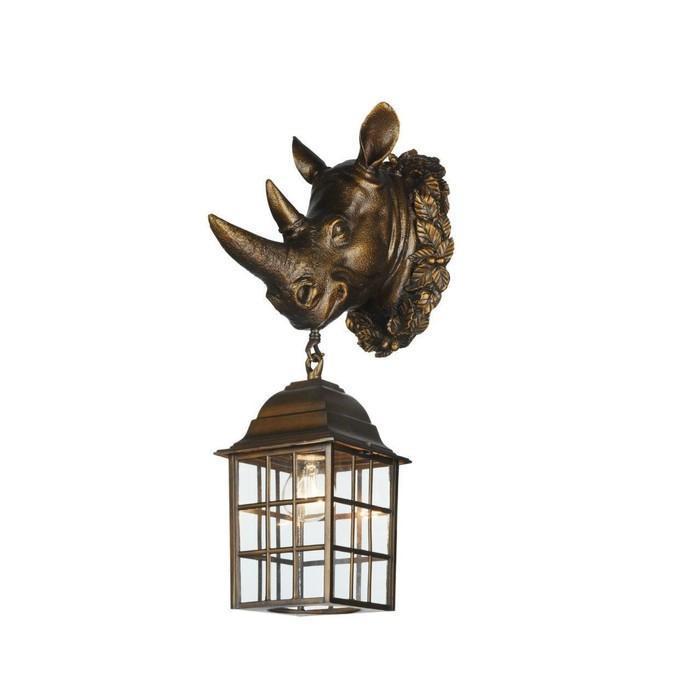 """Светильник """"Носорог"""", E27, 60 Вт, IP44, цвет золотисто-коричневый"""
