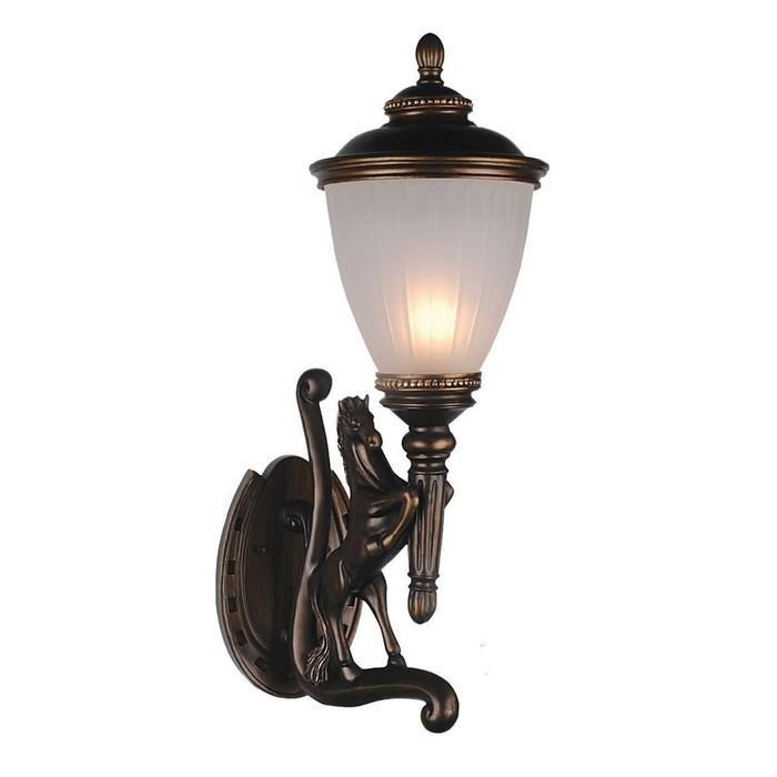 """Светильник """"Конь"""", E27, 60 Вт, IP44, цвет коричневый"""