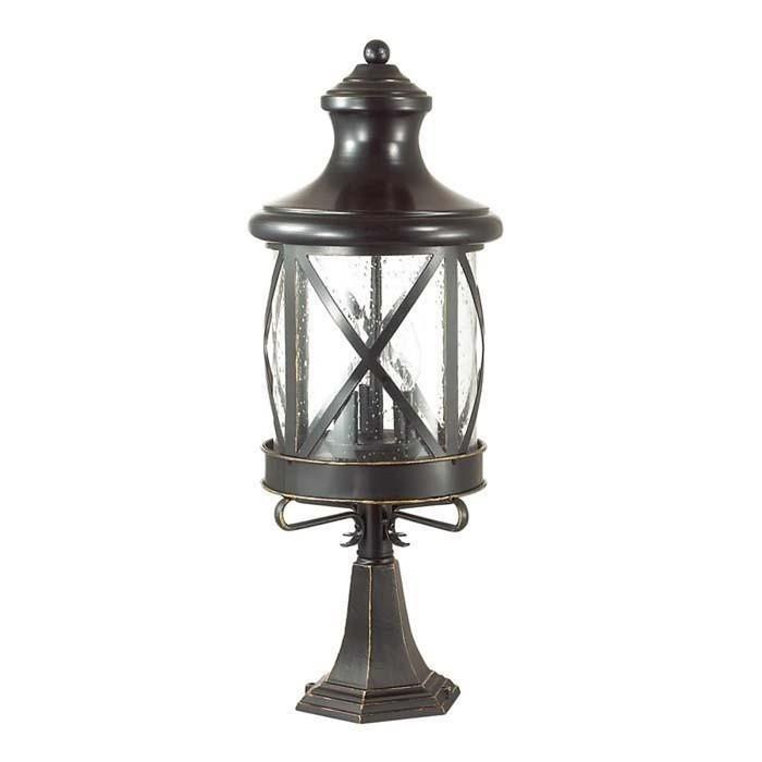 Уличный светильник на столб SATION, 3x60Вт, E14, IP44, цвет черный