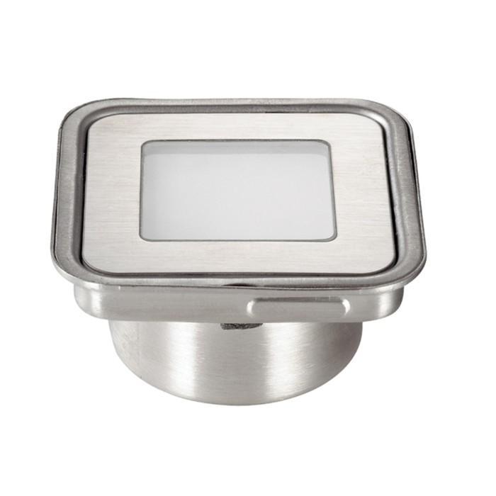Встраиваемый светильник в грунт 6x0,9Вт LED 12V хром Н28 Ø58,5x58,5мм