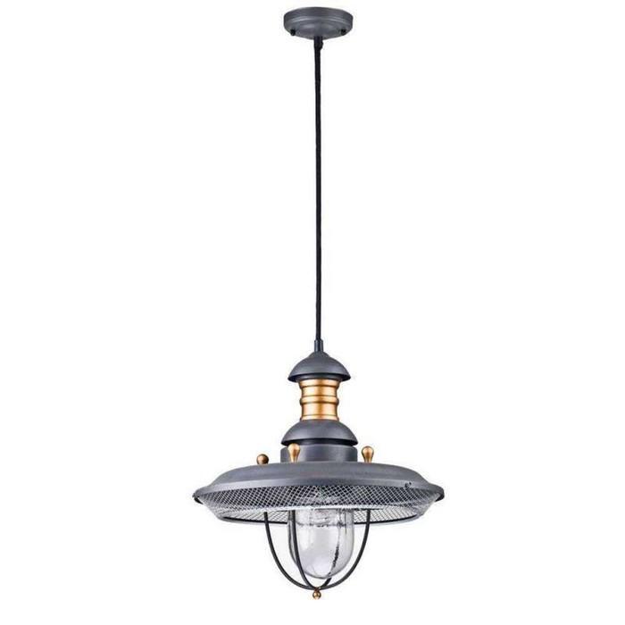 Светильник Magnificent Mile, E27, 60 Вт, IP44, цвет серый