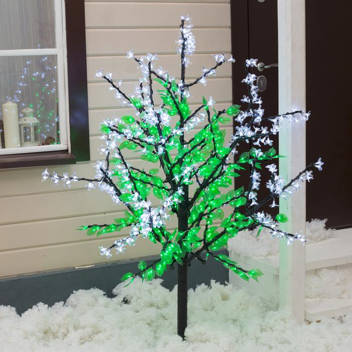"Дерево светодиодное улич. 1,5 м. ""Сирень"" 768Led, 46W, 220V Белый"