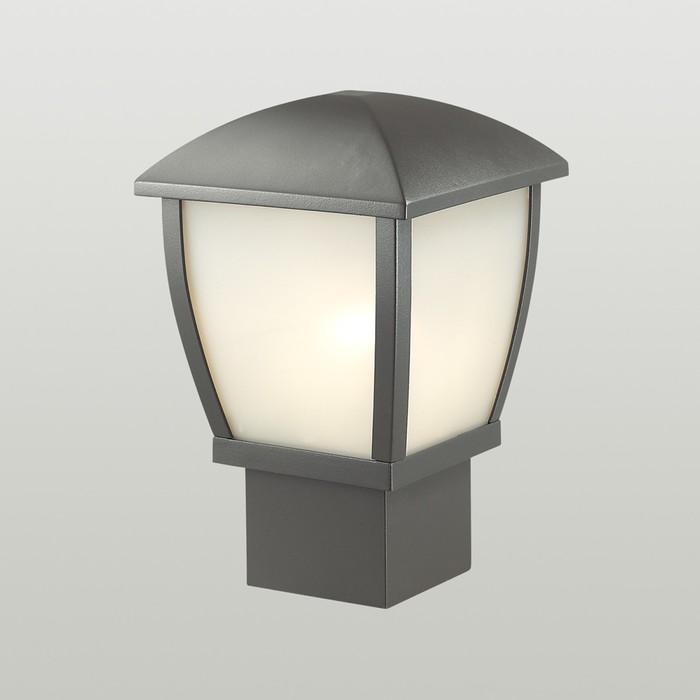 Уличный светильник на столб TAKO, 1x100Вт, E27, IP44, цвет серый