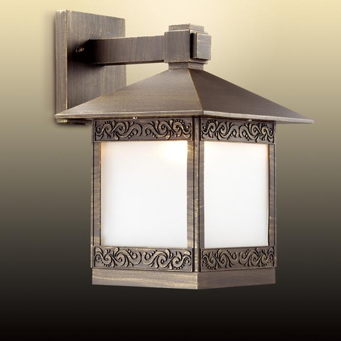 Уличный настенный светильник NOVARA, 1x60Вт, E27, IP44, цвет коричневый