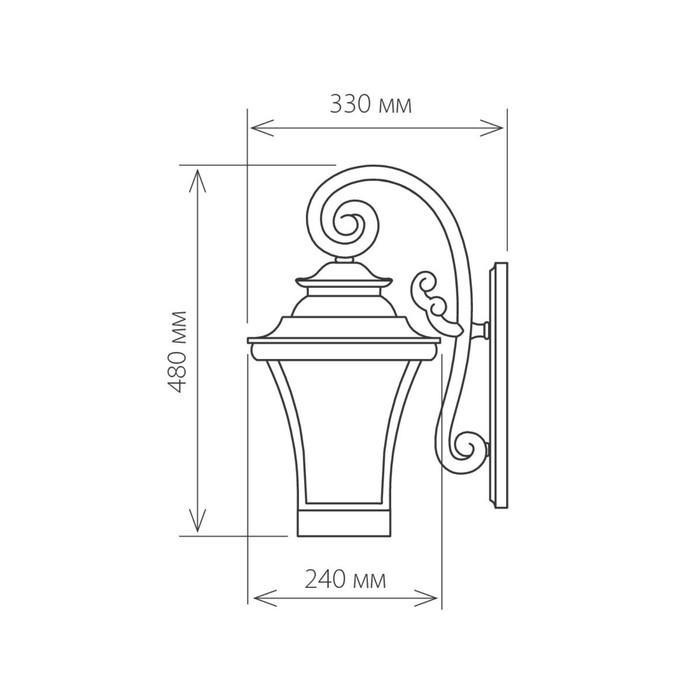 Светильник Elektrostandard садово-парковый, 60 Вт, E27, IP44, настенный, Libra D венге