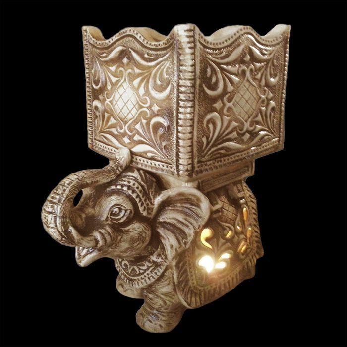 """Садовый светильник-кашпо """"Слон"""" шамот, 45 л"""