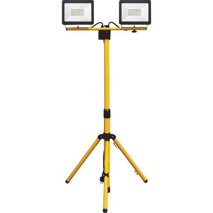 Прожектор светодиодный LL-502, 2х30W, 6400К, IP65, цвет черный, желтый